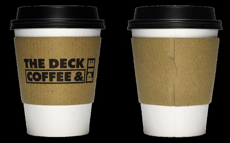 THE DECK COFFEE&PIE(ザ デック コーヒー&パイ)のテイクアウト用コーヒーカップ