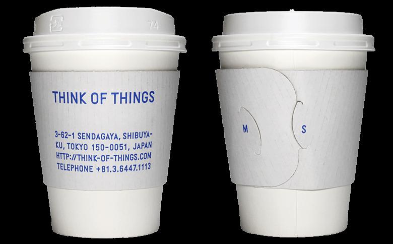 THINK OF THINGS(シンク オブ シングス)のテイクアウト用コーヒーカップ