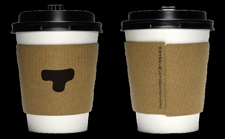 TORAYA CAFE・AN STAND(トラヤ カフェ・アン スタンド)のテイクアウト用コーヒーカップ