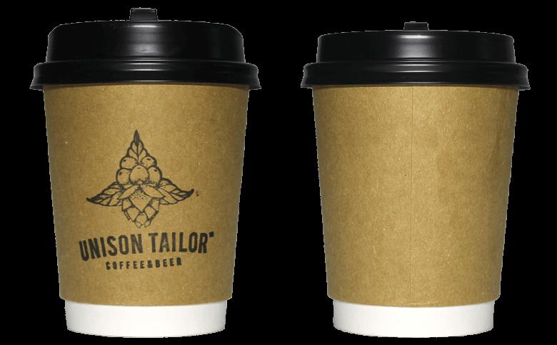 UNISON TAILOR(ユニゾンテイラー)のテイクアウト用コーヒーカップ