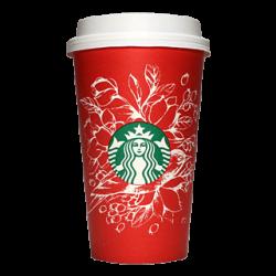 Starbucks Coffee 2016年ホリデーシーズン限定レッドカップ Birds & Flowers「鳥と花」(Indonesia)