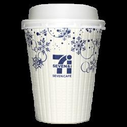 セブンイレブン セブンカフェ 2018年冬限定(白×青)