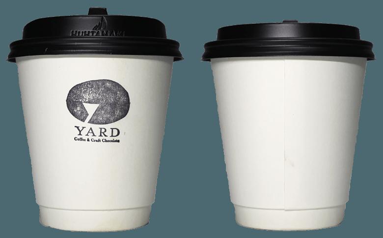 YARD Coffee&Craft Chocolate(ヤード コーヒー&クラフトチョコレート)のテイクアウト用コーヒーカップ