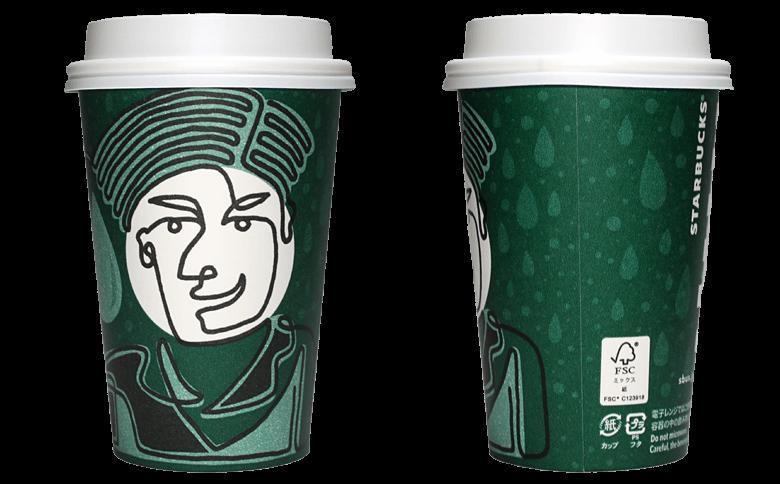 YOU & STARBUCKS for TOHOKU「SHIZUKU」のテイクアウト用コーヒーカップ